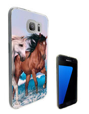 2403 Horses Love Playful Case Cover For Samsung Galaxy J3 J5 A3 A5 S6 S7 Edge