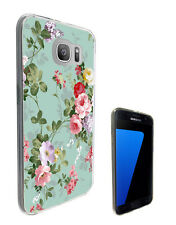 2432 Floral Vintage Shabby Case Cover For Samsung Galaxy J3 J5 A3 A5 S6 S7 Edge