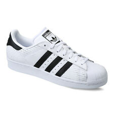 Adidas Originals Men's Superstar Scored Leather White/Black AQ8333 Sz 8 - 1