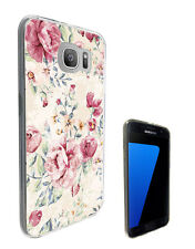 2458 Floral Vintage Shabby Case Cover For Samsung Galaxy J3 J5 A3 A5 S6 S7 Edge