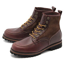 Timberland Heritage Moc Toe Mens Boots 6106R DARDIN Redwood Smooth Brown