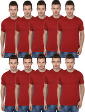 10 Combo Pack Single Colour Red -Men's Round Neck Tshirts- Bulk Order Available