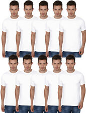 10 Combo Pack Single Colour White -Men's Round Neck Tshirts-Bulk Order Available