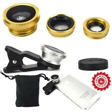 iPHONE 3in1 Clip On Lens Set Fish Eye Macro Wide Angle HQ Camera Kit UK SELLER