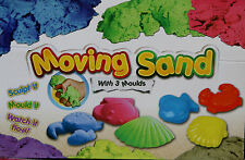 Magic Motion Sand Play Set 400g Tub Beach Moulds Children Fun Toy Moving Dough