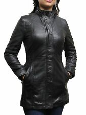 Brandslock Ladies Leather Biker Jacket Genuine Sheepskin