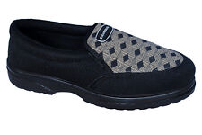COLUMBUS BRAND MENS BLACK MN-08 SLIPONS CANVAS SHOES