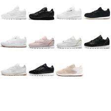 Reebok CL LTHR Leather Womens Casual Shoes Sneakers Pick 1