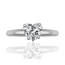 Silver Dew 925 Sterling Silver Heart Valentine Love Solitaire Ring For Ladies
