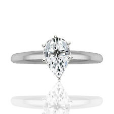 Silver Dew 925 Sterling Silver Solitaire Ring For Ladies In Rhodium Plated
