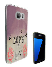 2797 love Shabby Chic Birds Case Cover For Samsung Galaxy J3 J5 A3 A5 S6 S7 Edge