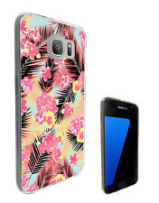 2976 Tropical Pink Flora Case Cover For Samsung Galaxy J3 J5 A3 A5 S6 S7 Edge