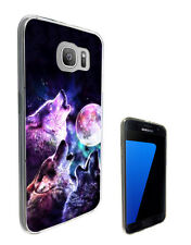 3000 Wolf Husky Howling Case Cover For Samsung Galaxy J3 J5 A3 A5 S6 S7 Edge