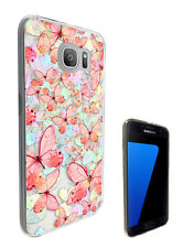 C1435 Pink Butterflies Case Cover For Samsung Galaxy J3 J5 A3 A5 S6 S7 Edge