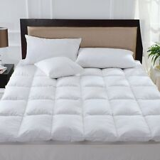 Hotel Quality Luxury DUCK FEATHER AND DOWN MATTRESS TOPPER - 100% Cotton Cover