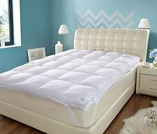 Hotel Quality Luxury GOOSE FEATHER AND DOWN MATTRESS TOPPER - 100% Cotton Cover