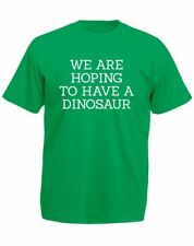 Brand88 - Hoping To Have A Dinosaur, Mens Printed T-Shirt