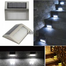 LED Solar Power Path Stair Outdoor Light Garden Yard Wall Landscape Lamp Pathway