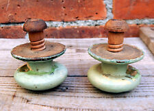 Pair Antique Victorian Chest Drawers Wooden Cupboard Pulls Handles Knobs #2
