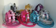 XXS Gorgeous GLITTER SPARKLE,Crystal Dog Harness & Lead,Chihuahua .Puppy Etc