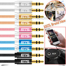 ®ETS 1M 3.5MM Jack Male To Male Audio Aux Cable MP3 iPod Speakers Laptop PC Lead