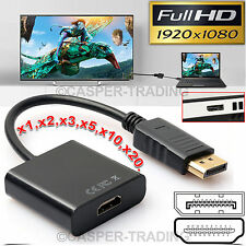 DP Displayport Male To HDMI Female Converter Cable Adapter For Laptop HDTV Lot