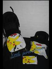 white yellow red black pokemon stay put blanket/footmuff or pram blanket