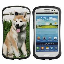 Anti-Drop Shockproof Heavy Duty Case For Samsung Young Akita Inu on the grass