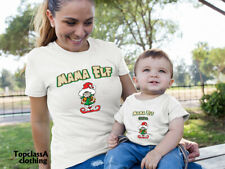 Mama Elf & Helper Christmas Santa Mum Son Mother Daughter Matching T shirts