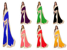 New Sari Designer Bollywood Saree Fabric Pure Georgette Party wear Saree Blouse