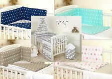 GREY ELEPHANT BABY BEDDING SET COT OR COT BED - COVERS BUMPER CANOPY BLANKET