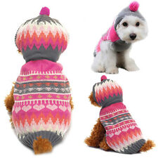 Pet Dog Warm Clothes Puppy Cat Shirt Coat Apparel Winter Sweater Costume Jacket