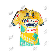 MAGLIA SANTINI MERCATONE UNO PANTANI REPLICA TOUR DE FRANCE CYCLING JERSEY SHIRT