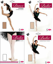 Girls Ballet Dance Tights Full Foot Shimmer Stirrup Convertible  *ON SALE*