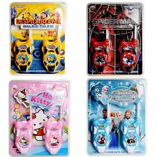 Walkie Talkie Two-Way Radio Phone Toy Gift Minions Spiderman Frozen Hello Kitty