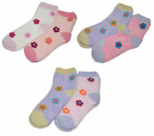 Mujer Floral Calcetines Cama 2 Pares Mullido Suave Flor Ropa Cómoda Bedsocks