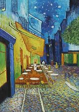 Cafe Terrace At Night Van Gogh BOX CANVAS Art Print Black & White - All Sizes