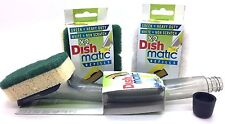 Dishmatic Fill and Clean Scourer with Handle , Non Scratch & Heavyduty Refills