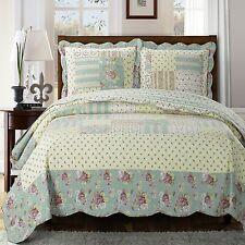 Luxury Cottage Oversize Annabel Quilted Coverlet Set - Wrinkle Resistant