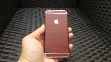 For Apple iPhone Skin Case Wrap Sticker Decal Textured Cover Wood Grian Effect