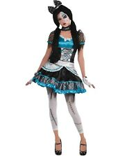 Teen Shattered Zombie Scary Doll Halloween Outfit Fancy Dress Costume