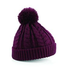Beechfield Cable Knit Snowstar Beanie 1er Pack
