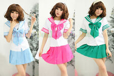 Japanese School Girl uniform UK Seller cosplay Women Sexy student costume sailor