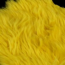 Faux Fake Long Fur Fabric Duck Bear & Animal Toy 25mm Pile Yellow