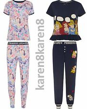 Ladies PRINCESS LIFE Pyjamas Primark DISNEY Womens Pajamas T Shirt Leggings