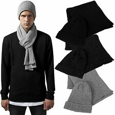 19663651b62 Urban Classics Beanie Scarf Set Winter Knit Hat Scarf Hat Knit Basic Flap