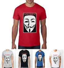 Disobey V For Vendetta Guy Fawkes Anonymous Mask Unisex Disobey T Shirt Joker