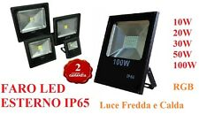 FARO FARETTO LED 10 20 30 50 100W ESTERNO IP65 IMPERMEABILE NEW