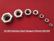 Stainless Steel Nuts Hexagon Full Nuts A2 Bolts Screws M3 M4 M5 M6 M8 M10 M12