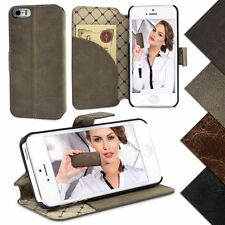 iPhone 5 / 5S ECHT LEDER Hülle Book Case Handytasche Cover Bouletta Wallet